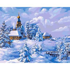 """GХ3530 """"Зима в деревне"""", 40х50 см"""