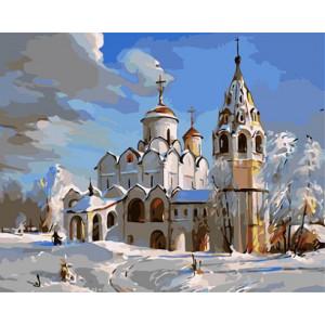 """GХ3537 """"Зимняя церковь"""", 40х50 см"""