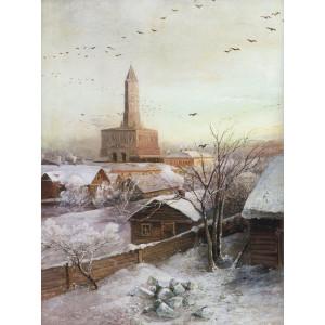 """GХ8174 """"Зима в маленьком городе"""", 40х50 см"""