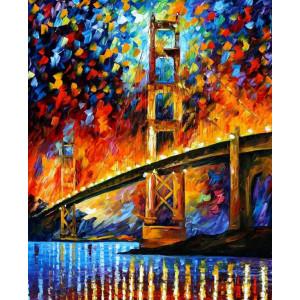GX6388 Красочный мост. Л. Афремов 40 на 50 купить в Омске недорого