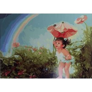 GX7052 «Ангел в волшебном саду» 40*50 см