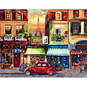 GX7087 Парижская улица 40x50