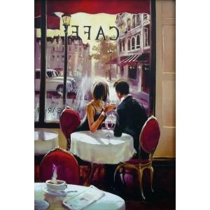 """GX7568 """"Свидание в кафе"""" художник Хэйтон Брент 40х50 купить в Омске недорого"""