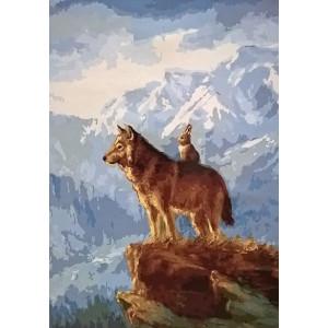 GX7677 Заяц верхом на волке 40-50 см