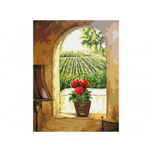 GX7690 «Цветок на окне» 40 на 50 купить в Омске недорого
