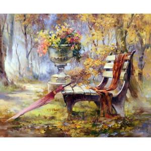 "GX7816 Картина по номерам ""Время листопада"" 40x50см"