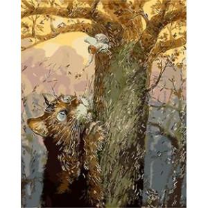 """GX8789 """"Кот и ангел на дереве"""", 40х50 см"""