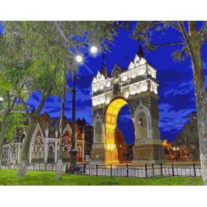 "GX9365 ""Триумфальная арка ночью"", 40х50 см"