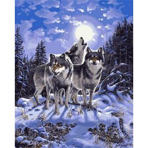 "GX9700 ""Три волка лунной ночью"", 40х50 см"