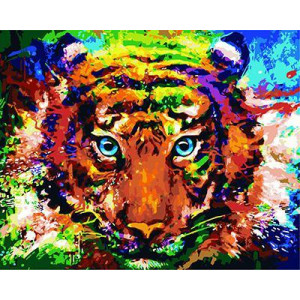 """GХ3747 """"Разноцветный тигр"""" , 40х50 см купить в Омске недорого"""
