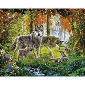 """GХ3897 """"Волчья семья"""" , 40х50 см купить в Омске недорого"""