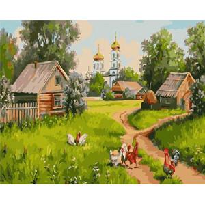 "GХ3898 ""Курицы гуляют по деревне"" , 40х50 см"