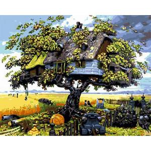 "GХ3599 ""Дом на дереве"", 40х50 см"