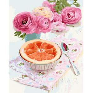 """GХ3632 Картина по номерам """"Фруктовый завтрак"""", 40х50 см"""