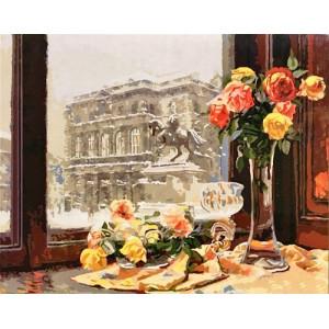 GX9078 Розы у окна 40х50 см купить в Омске недорого