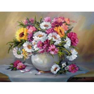 GX9425 Цветы в вазе (худ. ANCA BULGARU купить в Омске недорого
