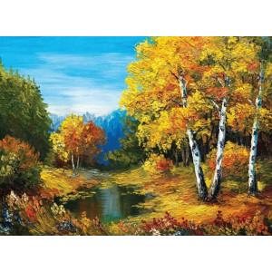 GX9586 Осенний лес 40х50см купить в Омске недорого