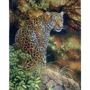 Вышивка крестиком 40Х50 Арт. 0157 Леопард