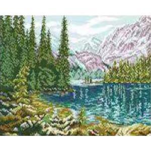 Вышивка крестиком 40Х50 Арт. 0103 Горное озеро