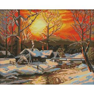 Вышивка крестиком 40Х50 Арт. 0193 Зима