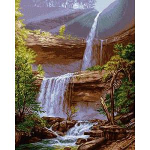 Вышивка крестиком 40Х50 Арт. 0207 Водопад