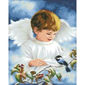 Вышивка крестиком 40Х50 Арт. 0119 Ангелочек