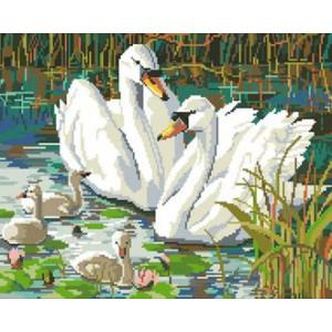 Вышивка крестиком 40Х50 Арт. 0152 Белые лебеди
