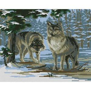 Вышивка крестиком 40Х50 Арт. 0058 Волки