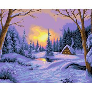 Вышивка крестиком 40Х50 Арт. 0208 Снежная зима